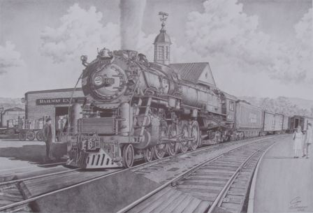 Boston and Maine R-1-D class mountain type steam locomotive  number 4113